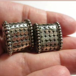 John Hardy Dot Collection Pierced Earrings SS